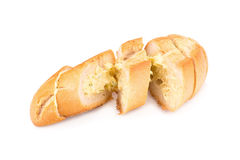 garlic bread against white background Royalty Free Stock Photo