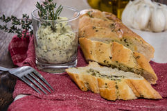 Garlic Bread Appetizer Stock Image