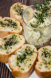 Garlic Bread Appetizer Stock Photos