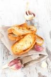 Garlic bread background. Royalty Free Stock Image
