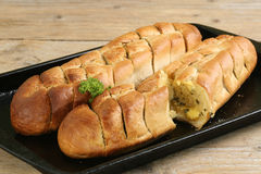 Garlic bread baguettes Stock Image