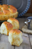 Garlic bread buns. Seasoned with dill Stock Photo