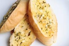 Garlic bread close up Stock Photography