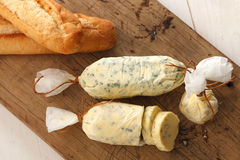 Garlic bread compound butter herb baguette thyme rosemary coriander oregano Stock Image