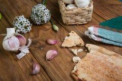 Garlic and bread Royalty Free Stock Photo