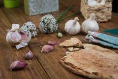 Garlic and bread Royalty Free Stock Photos