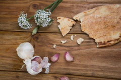 Garlic and bread Royalty Free Stock Images