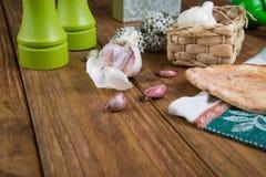 Garlic and bread Royalty Free Stock Image