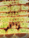 Garlic bread grill Stock Images