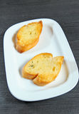 Garlic bread with herbs Royalty Free Stock Photos