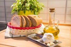 Garlic Bread Ingredients Stock Photography
