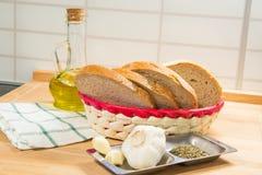 Garlic Bread Ingredients Stock Images
