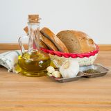 Garlic Bread Ingredients Royalty Free Stock Photo