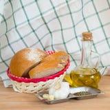 Garlic Bread Ingredients Stock Photo