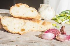 Garlic bread Stock Photos