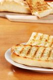 Garlic bread on a plate Royalty Free Stock Images