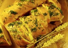 Garlic bread with spikelet Stock Photography