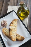Garlic bread toasts royalty free stock images