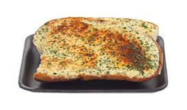 Garlic Bread on Tray Front Royalty Free Stock Image