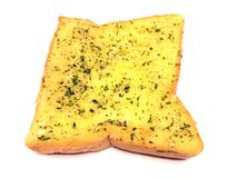 Garlic bread. On white background Stock Photo
