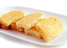 Garlic bread on white plate Royalty Free Stock Photo