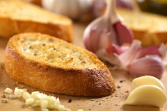 Garlic Bruschetta Stock Photography