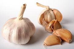 Garlic bulb and cloves Royalty Free Stock Image