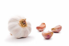 Garlic bulb and garlic cloves. Royalty Free Stock Photography