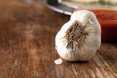 Garlic Bulb Macro Stock Photo