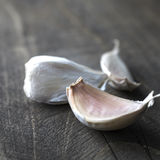 Garlic bulb on rustic wooden background Royalty Free Stock Photos