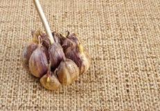 Garlic bulb on table Stock Photo