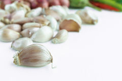 Garlic bulb on white background. Isolated Stock Photography