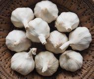 Garlic bulbs. In a basket, Philippines Stock Photos