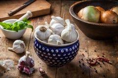 Garlic bulbs Stock Images