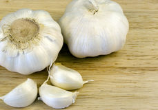 Garlic Bulbs & cloves Royalty Free Stock Images