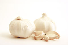 Garlic bulbs and cloves. Stock Image