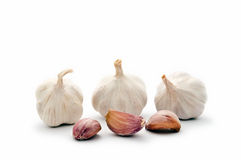 Garlic bulbs with cloves Stock Photo