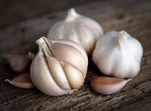 Garlic bulbs with garlic cloves Royalty Free Stock Image