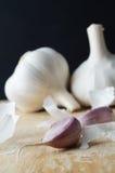 Garlic Bulbs with Peelings Stock Image