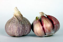 Garlic Bulbs Showin Garlic Cloves Royalty Free Stock Photos