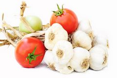 Garlic bunch Stock Photo
