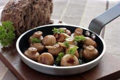 Garlic button mushrooms Stock Photo