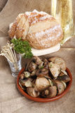 Garlic champignon Stock Photography