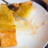 Garlic cheese bread Royalty Free Stock Photography