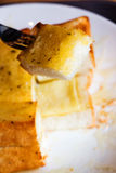 Garlic cheese bread Stock Photos