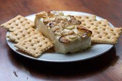 Garlic and cheese dip stock photos