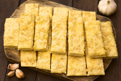 Garlic and Cheese Sticks Royalty Free Stock Image
