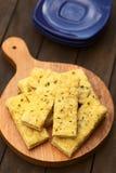 Garlic and Cheese Sticks Stock Photo