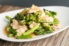 Garlic Chicken and Asparagus Royalty Free Stock Photo
