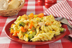 Garlic chicken pasta salad Royalty Free Stock Image